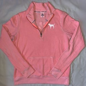 Victoria Secret pull over 3/4 Zip up